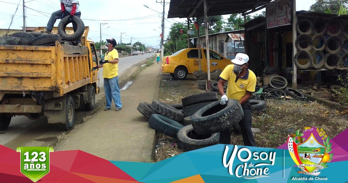 Continúa campaña de recolección de neumáticos usados