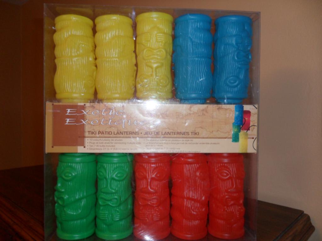 NIB Tiki Patio Lanterns