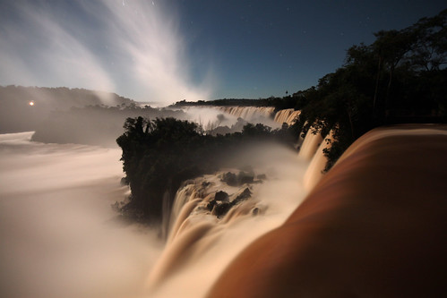 Iguazu falls - full moon walk!