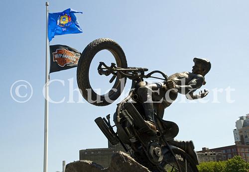 Harley Davidson Statue