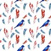 bird and feather pattern design by Rebekah Leigh
