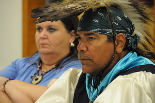 United Houma Nation Chief Thomas Dardar Jr. Listens to Oil Stories from Indigenous Ecuadoreans