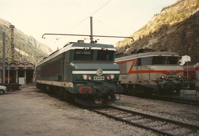 SNCF=0071 Locomotive (ex-Maurienne) CC 6550 au dépôt de Modane ...
