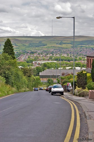 Looking down Tanner's Brow towards Horwich
