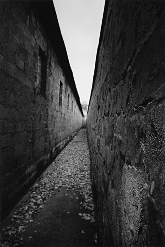 Shooting Passage, Ravensbruck, by Michael Kenna 1999