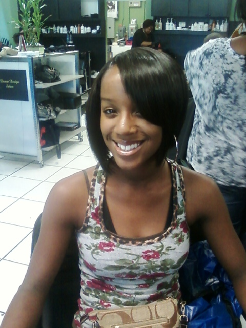 Sew in Bob with Bangs http://www.flickr.com/photos/mstanhair4u/4764973455/