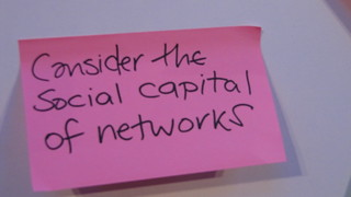 Consider the social capital of networks