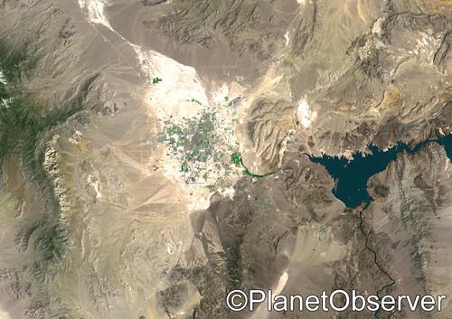 Las Vegas, Nevada, US, 1975 - Satellite image - PlanetObserver