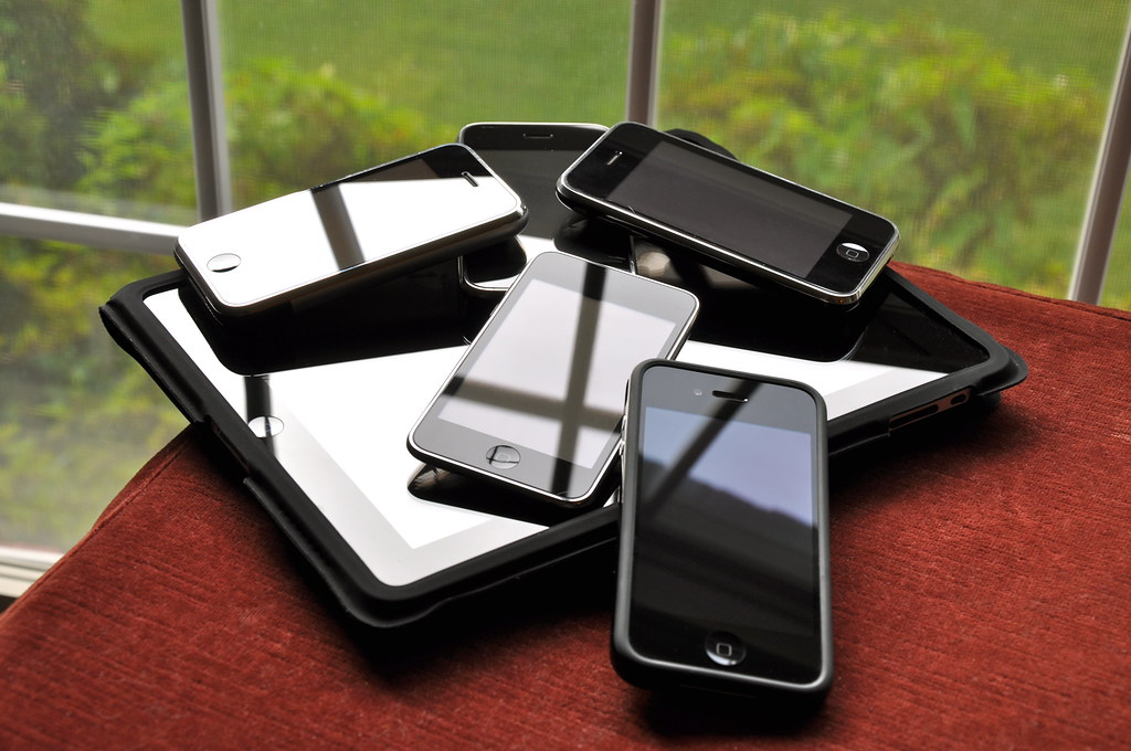 my iPhone family pile, blakespot, CC-BY