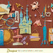 Disneyland '55 Giant Paper Sculpture by Miehana