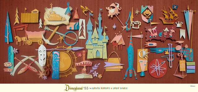 Disneyland '55 Giant Paper Sculpture