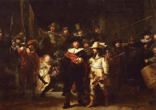 Rembrandt Van Rijn - The Nightwatch at Rijksmuseum Amsterdam
