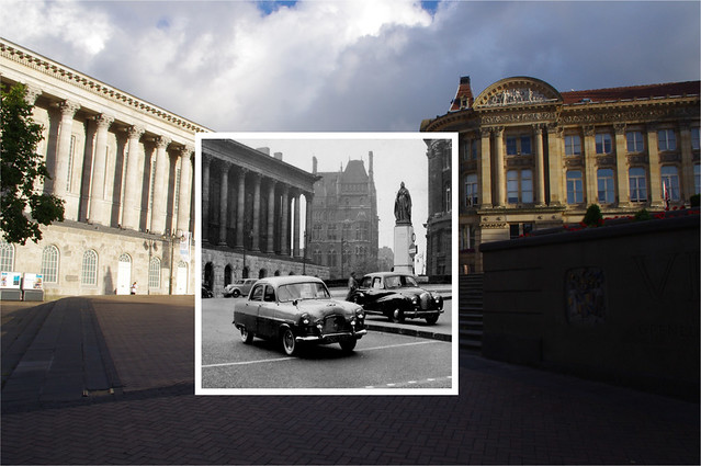 Cars in Victoria Square, Birmingham