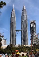 Kuala Lumpur Playground. Petronas Towers, Kuala Lumpur, Malaysia by Rana Pipiens