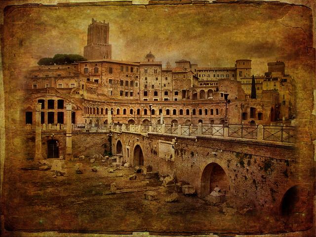 Traianus forum v. texture