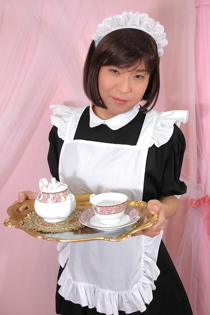 Flickr Crossdress Maid Serving a Party