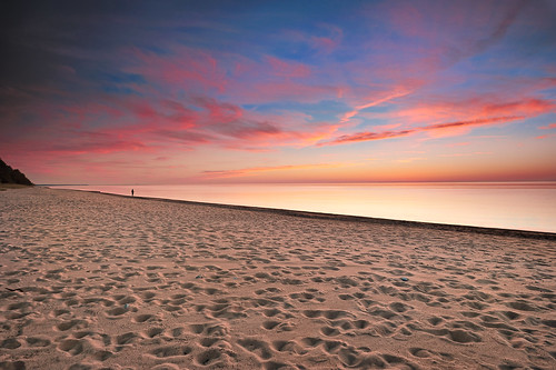 """Footprints"" ,   Twelvemile Beach, pictured Rocks National Lakeshore - ""Michigan Nut Photography"""