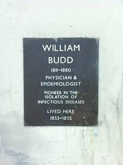 Photo of William Budd black plaque