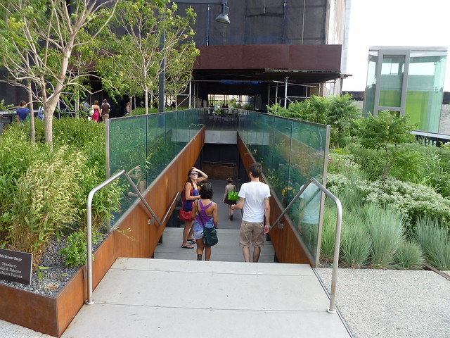 Stair Access to 10th Avenue from High Line, NYC