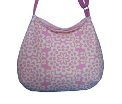 Curvy slouch fabric bag Amy Butler Wallflower