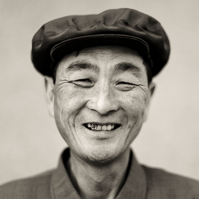 The smiling chief of the village  - Chilbo sea - North Korea