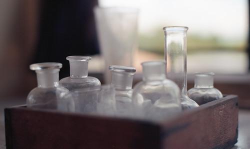 フラスコ、磨りガラス