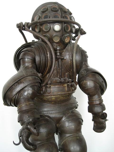 Prototype diving suit in Musee de la Marine