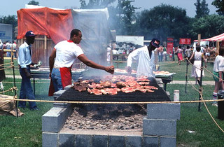Cooking barbecue at the Festival of American Folklife: Washington, D.C.
