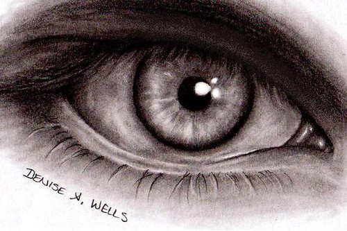 Ista (eye) - Drawing by Denise A. Wells