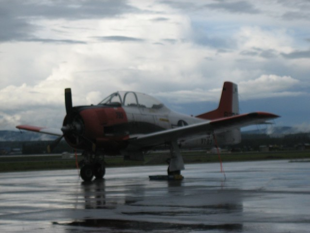 T-28 Trojan at Fairbanks Airport