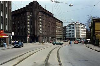 Tallinn modernist architecture,Pärnu Maantee. Sakala building of 1935 by Robert Natus, May 1996
