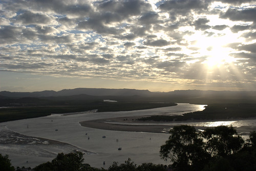 Sunset from Grassy Hill in Cooktown