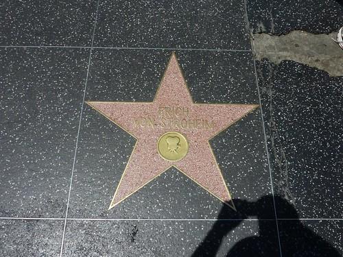 Hollywood, Walk of Fame, Erich Von Stroheim