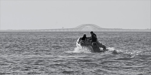 Dingy on Great South Bay by Alida's Photos