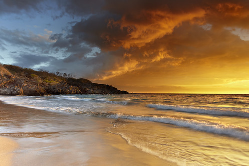 ocean sunset sea wallpaper sky usa cloud seascape reflection beach landscape volcano hawaii sand bravo unitedstates wave bigisland mauna kea kilauea loa kohala vog hapuna photocontesttnc11