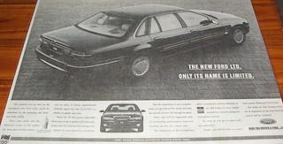 1995 Ford DF LTD Ad