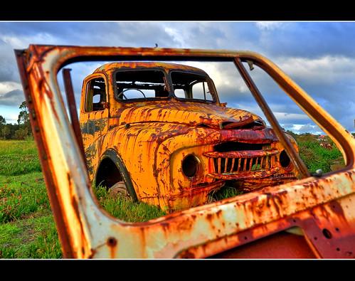 beautiful car sunrise landscape nikon rust hdr d90