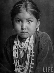 Native American Navajo princess, Rainbow Bridge, United States, by E.O. Hoppe 1927