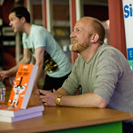 Lars Husum signing books |