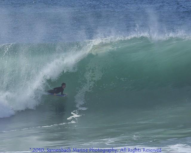 Bodyboarding the wedge