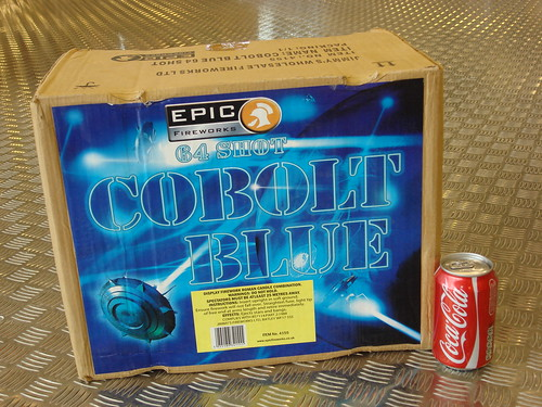 Epic Fireworks - COBOLT BLUE 64 SHOT