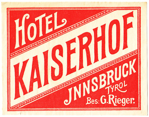 Austria - Innsbruck - Hotel Kaiserhof by Luggage Labels by b-effe