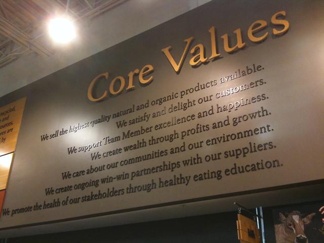 Whole Foods Core Values