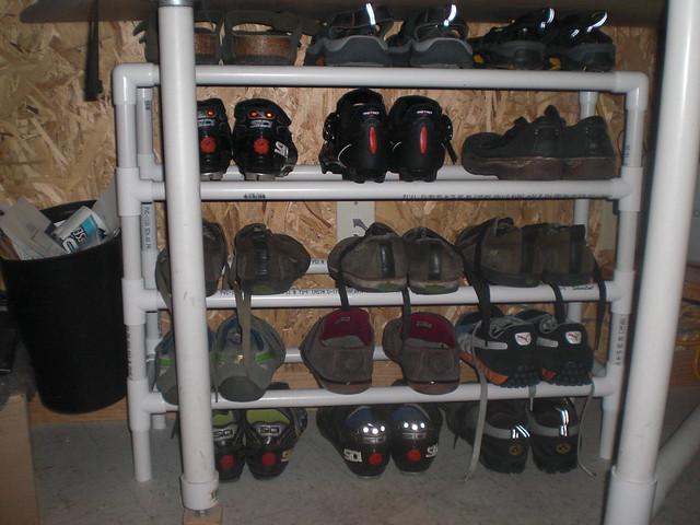 pvc shoe rack 30 in fittings 6 8 for flickr photo sharing. Black Bedroom Furniture Sets. Home Design Ideas