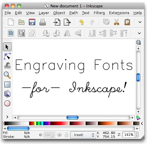 Hershey text an inkscape extension for engraving fonts for Cnc lettering software