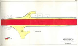San Francisco Oakland Bay Bridge Proposed Revisions: Yerba Buena Island Viaduct Upper Deck Plan (1957)