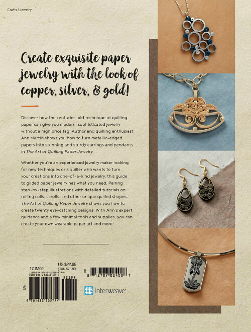The Art of Quilling Paper Jewelry - Back Cover