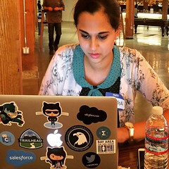 My super talented @BayAreaGirlGeekDinners co-organizer Sukrutha Bhadouria wrote her first Medium blog post today! This picture is a #tbt from the Girl Geek Dinner we hosted at GitHub a while back