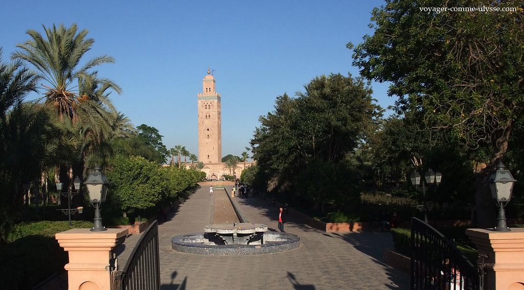 La koutoubia de marrakech et son minaret for Jardin koutoubia