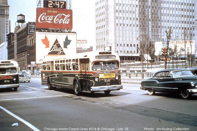 Historic Photo Chicago Motor Coach Company Gmc Transit